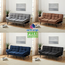 Memory Foam Futon Sofa Bed Couch Sleeper Convertible Foldable Love seat New