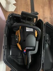 New Poulan Pro 18 In. Cc Gas Chainsaw, Craftsman With Case