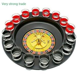 16 Possibilities Bar Funny Tools Russia Turntable Shot Glass Drinking Roulette