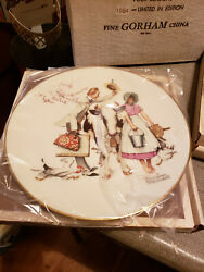 Norman Rockwell 1984 Gorham Collectible Plates Four Season Series 4 Plates Total