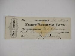 Freehold Nj 1881 First National Bank Local History Monmouth County