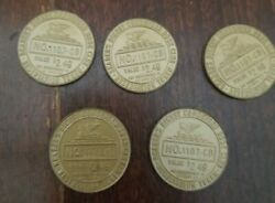 Lot Of 5 Token Plastic Reservation Readers Digest Condensed Book Club 2.49 Coin