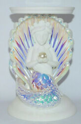 Bath And Body Works Iridescent Mermaid Pedestal Large Candle Holder Sleeve New