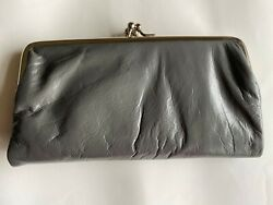 Latico Women#x27;s Genuine Leather Double Kiss Folded Wallet Clutch Color Sage NWT $40.00