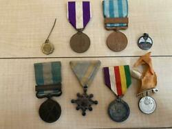 Japanese Army Medal Set Of 8 Medals Ww2 Former Free Ship