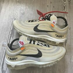 Off White X Nike Air Max 97 Size 10 100 Authentic Good Condition Fast Ship