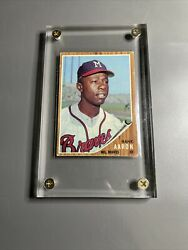 1962 Topps Hank Aaron 320 Centered Great Clarity And Eye Appeal Beautiful Cond🔥