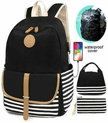 SCIONE School Backpacks for Women Teen Girls with USB Charging Port and Backp... $46.55