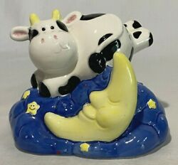 Cow Jumped Over The Moon Nursery Rhyme Ceramic Bank