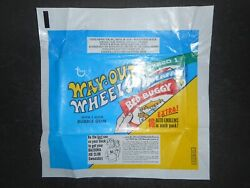 1970 Way Out Wheels Card Wrapper Topps Sweatshirt Ad