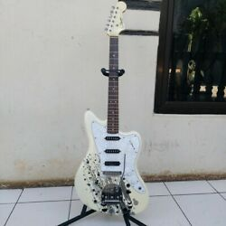 Squier Jazzmaster Mami Scandal Pearl White Stratomaster Rare And Discontinued