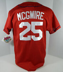 St. Louis Cardinals Mark Mcgwire 25 Authentic Red Jersey Majestic Nwt L 69