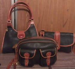 Dooney amp; Bourke Lot Of Three Vintage All Weather Leather Shoulder Bags $110.00
