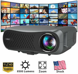 8500lms Movie Projector Native 1080p Home Theater Large Screen Game Tv 100001