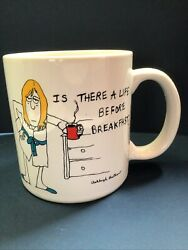 Vintage Ashleigh Brilliant Coffee Mug Cup Is There Life Before Breakfast 1967