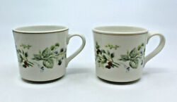 Royal Albert Bitter Sweet Country Garden Coffee Tea Mug Cups Only Set Of 2 As-is