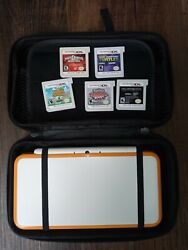 New Nintendo 2ds Xl - U.s- Orange And White Edition - Flawless