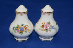 Royal Albert Lady Carlyle Salt And Pepper Shaker Set, 3 1/4, With Stoppers