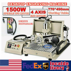 Usb 4axis 1500w Cnc 6040z Router Engraving Wood Drill/milling Machine+controller