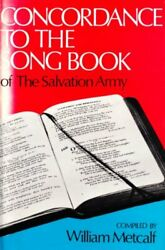 Concordance To The Song Book Of The Salvation Army Book The Fast Free Shipping