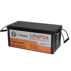 12v 200ah Lifepo4 Solar Battery Pack Deep Cycle For Rv Rechargeable Batteries