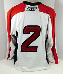 2009-10 Albany River Rats 2 Game Issued White Jersey 56 Dp08643