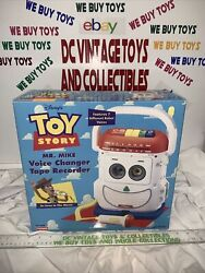 Vintage Toy Story Mr. Mike Voice Changer Tape Recorder New Playskool —sealed—