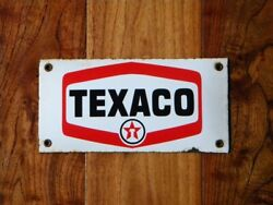 Vintage Texaco Porcelain Sign Gas Station Racing Oil Pump Lubester Advertising