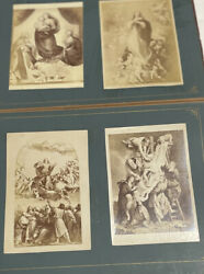 Very Old Album Collection Of Antique Religious And Scenery Prints. Large Book