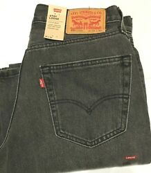 Nwt Men Levi's Stay Loose Sit At Waist Straight Leg Charcoal Jeans Pant Denim