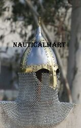 Medieval Reproduction Viking-war Battle Helmet With Chain Mail Halloween