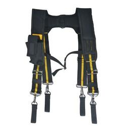 Worker Tool Belt With Large Moveable Phone Pencil Holder Adjustable Padded Pouch