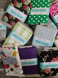 100% Cotton Fabrics 1 Yard Each Pack Multiple Variations Available