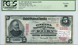 Fr. 587 1902 Rs 5 Ch 1392 National Bank Note Pcgs 30 Very Fine 3000 Dfp
