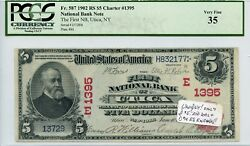 Fr. 587 1902 Rs 5 Ch 1395 National Bank Note Pcgs 35 Very Fine 4000 Dfp