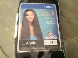 Outre Synthetic Hair Half Wig Quick Weave Annie 1b New Nib Free Shipping
