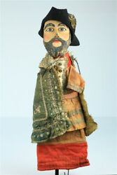 Antique Hand Puppet European Early 20th Century Large 21 Hand Carved