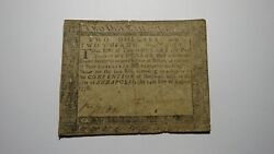 1776 2 2/3 Annapolis Maryland Md Colonial Currency Bank Note Bill Doi Rare Bill