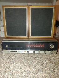 Vintage Panasonic Re-7800 Stereo Reciever 8 Track Re-7800 Speakers Tested Works.