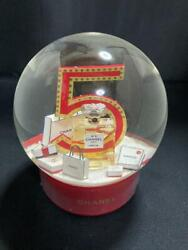 Electric Big Size Snow Globe Red No.5 Novelty Not For Sale Unused 427/mn