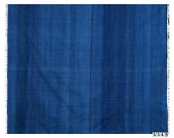 Solid Blue Handwoven Dhurrie With Abrush Effect Dhurrie Rug Flat Weave 8.3'x9.9'