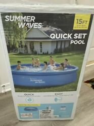 Summer Waves 15 Ft X 36in Quick Set Inflatable Above Ground Swimming Pool And Pump