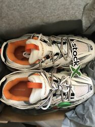 Balenciagas Tracks Orange And White Size 43/10 With Tags