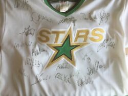 Dallas Stars Nhl Ccm Signed Sweater Mondano And Hatcher And 16 Others Size G/l