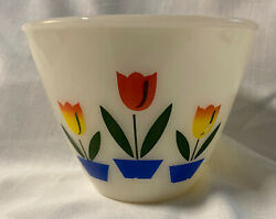 """Perfect Vintage Fire King Oven Ware 4"""" Tulip Mixing Bowl Smallest Of Set"""