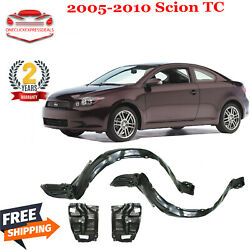 Front Fender Liners And Engine Splash Shield Under Cover For 2005-2010 Scion Tc