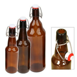 330/500/1000ml Amber Glass Beer Bottles For Home Brewing With Flip Caps X
