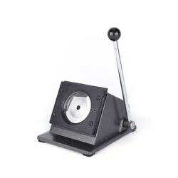 Round 75mm Multi Sheets Stack Paper Graphic Punch Die Cutter Button Maker Usa