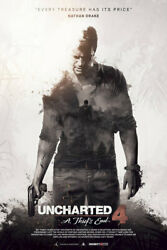 Uncharted 4 A Thiefs End New Game - Poster - Print - No Frame