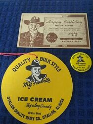 Hopalong Cassidy Collectible Lot Pin Postcard Other William Boyd